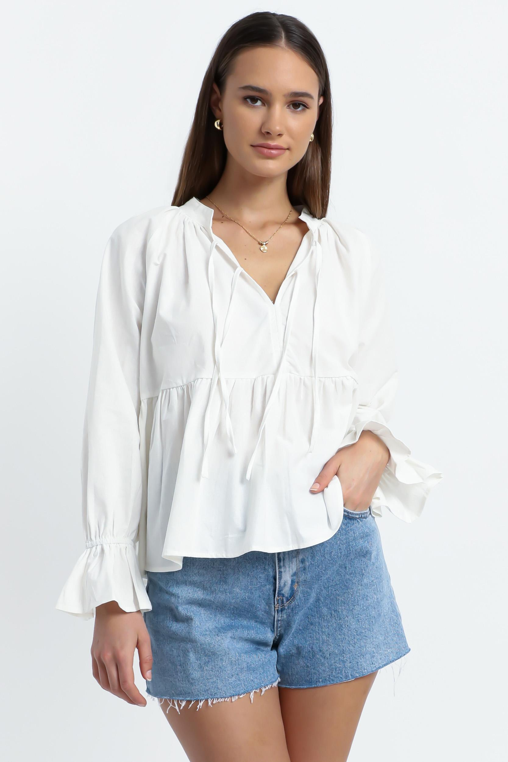 Magee Top in White - 6 (XS), White, hi-res image number null