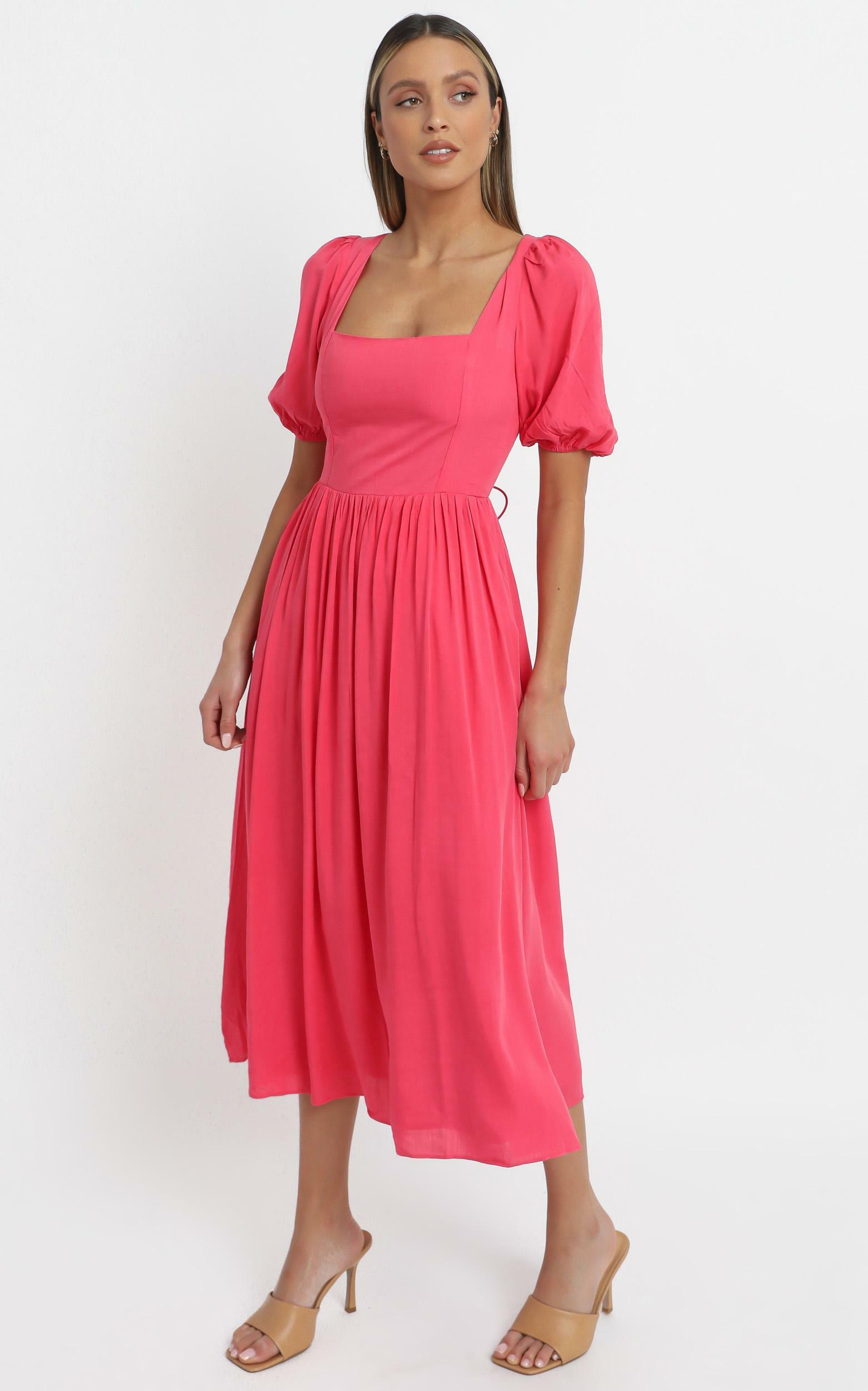 Poppy Dress in Hot Pink - 14 (XL), Pink, hi-res image number null