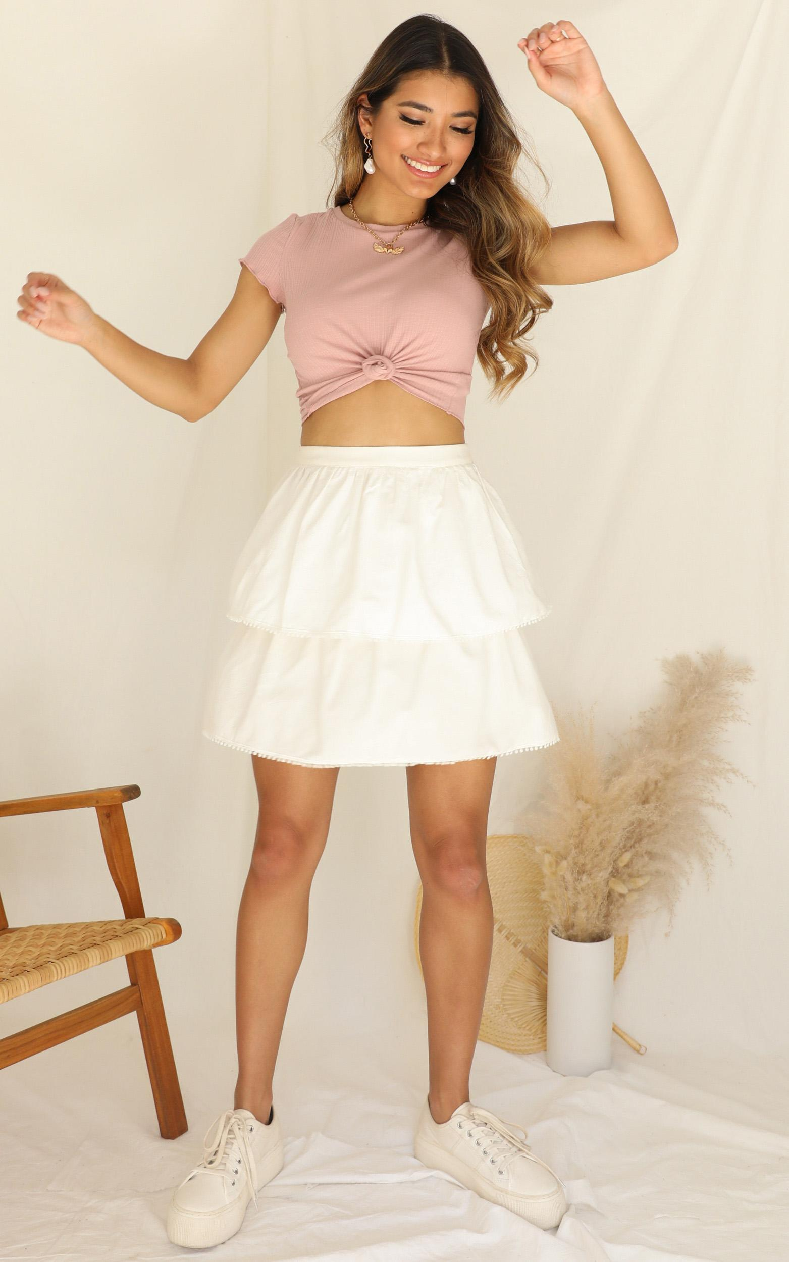 Catch The Breeze skirt in white - 20 (XXXXL), White, hi-res image number null
