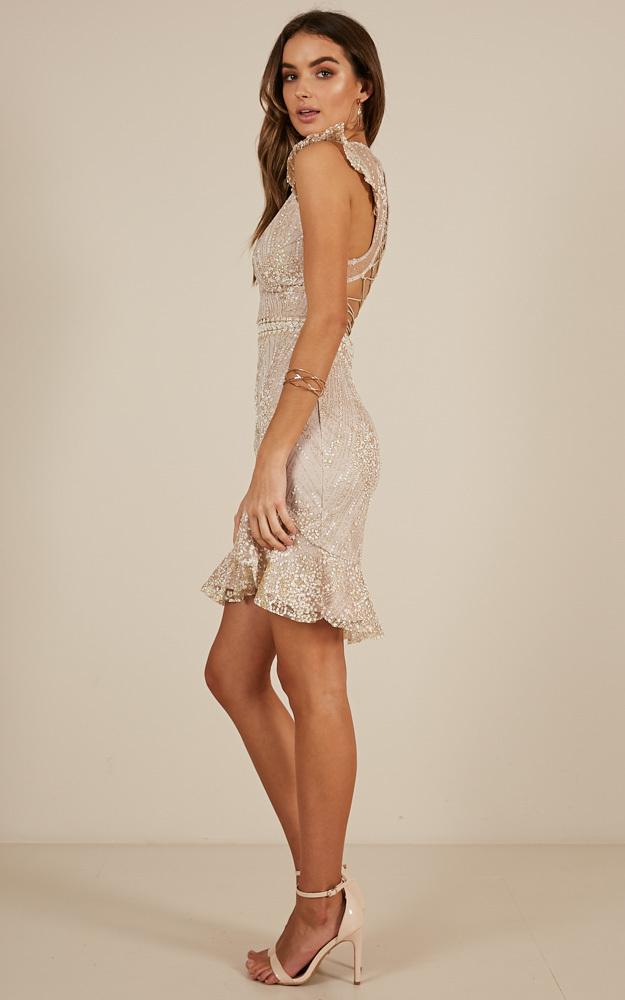 Better Me dress in gold sparkle - 14 (XL), Gold, hi-res image number null