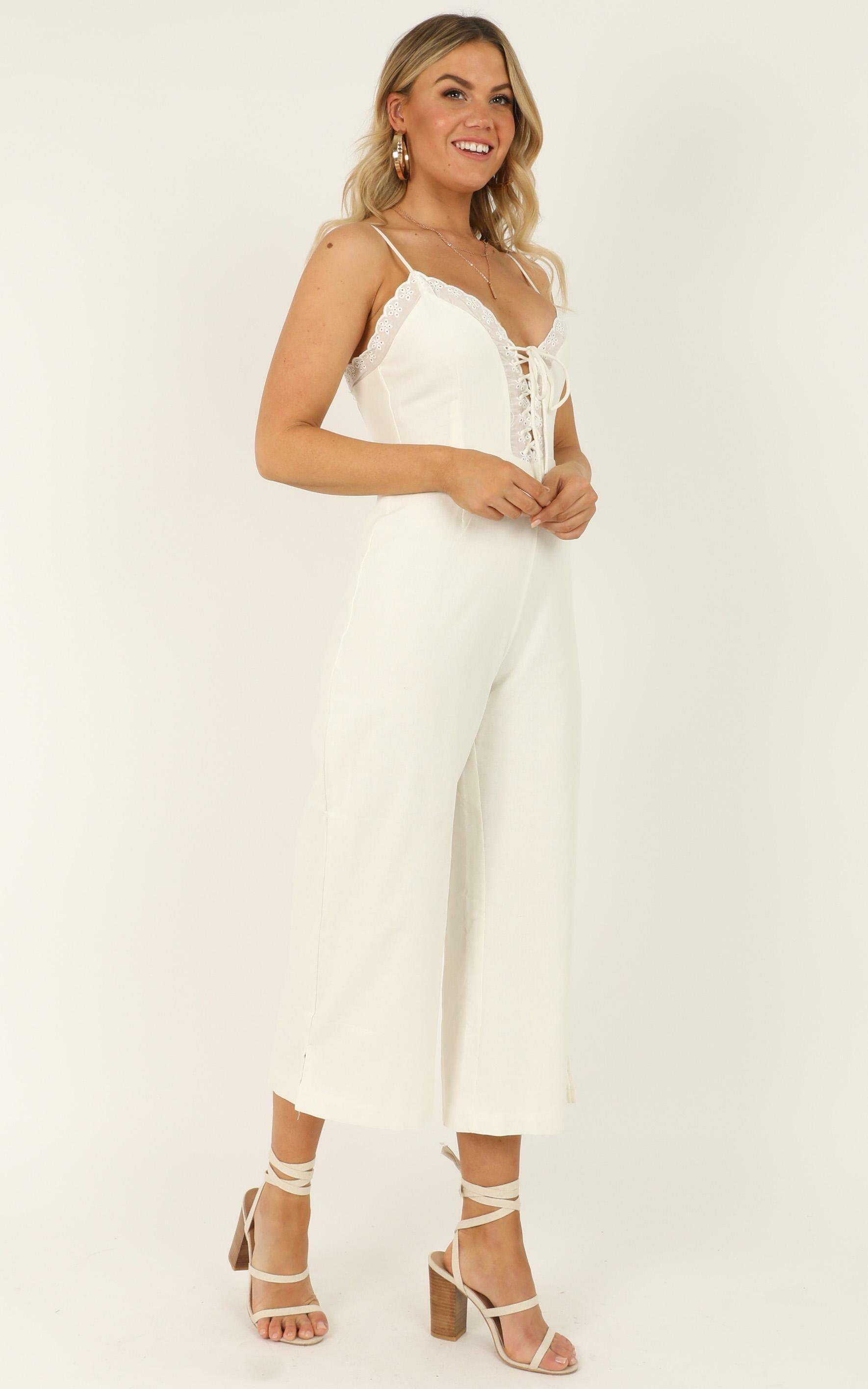 Neutral Ground Jumpsuit in white - 16 (XXL), White, hi-res image number null