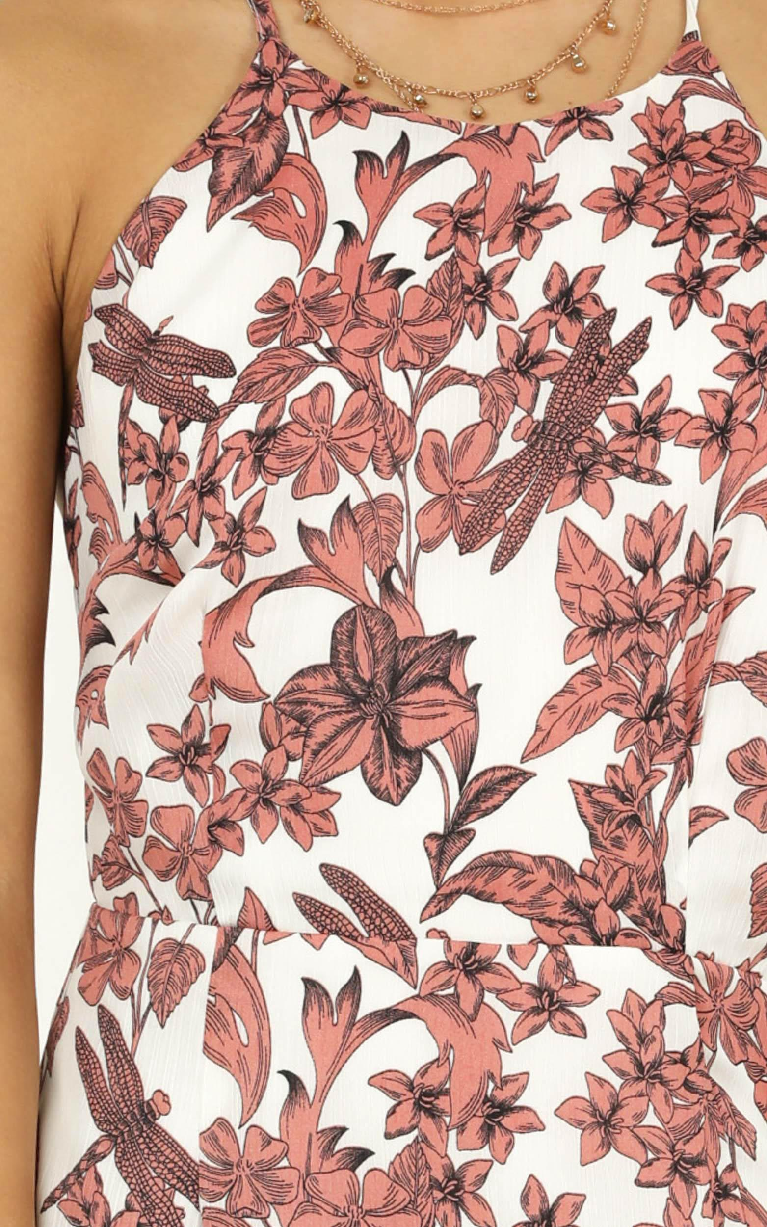 Got to live dress in dusty rose floral - 20 (XXXXL), Pink, hi-res image number null
