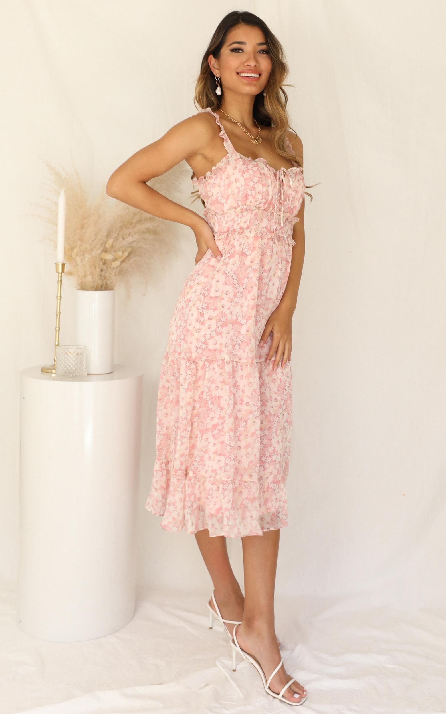 Glorious Morning dress in pink floral - 12 (L), Pink, hi-res image number null