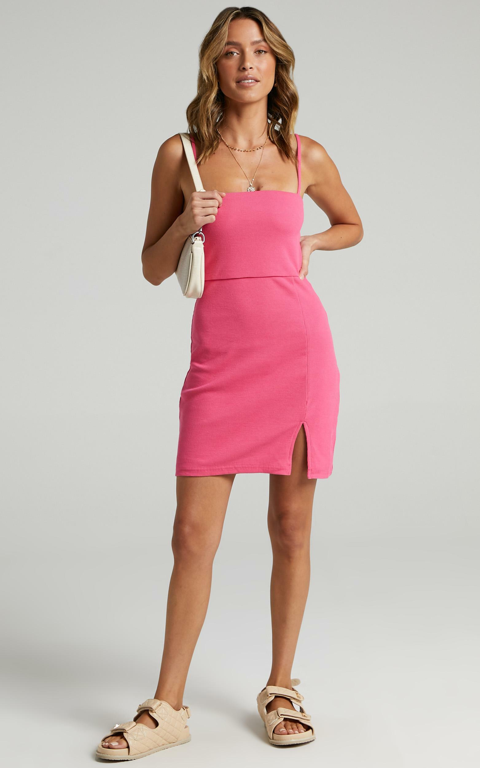 Island Babe Dress in Hot Pink - 6 (XS), PNK11, hi-res image number null