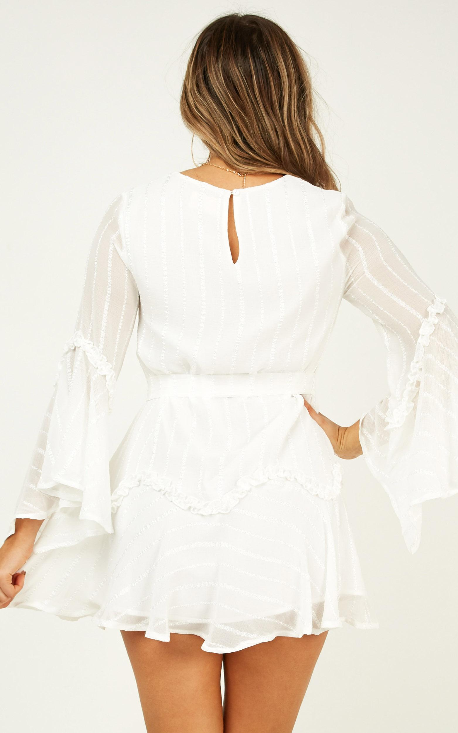 Slow me down dress in white - 20 (XXXXL), White, hi-res image number null